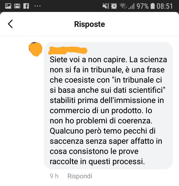 la no vax che non usciva le prove