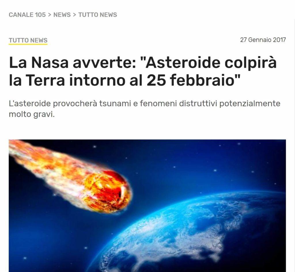Esempio Fake News