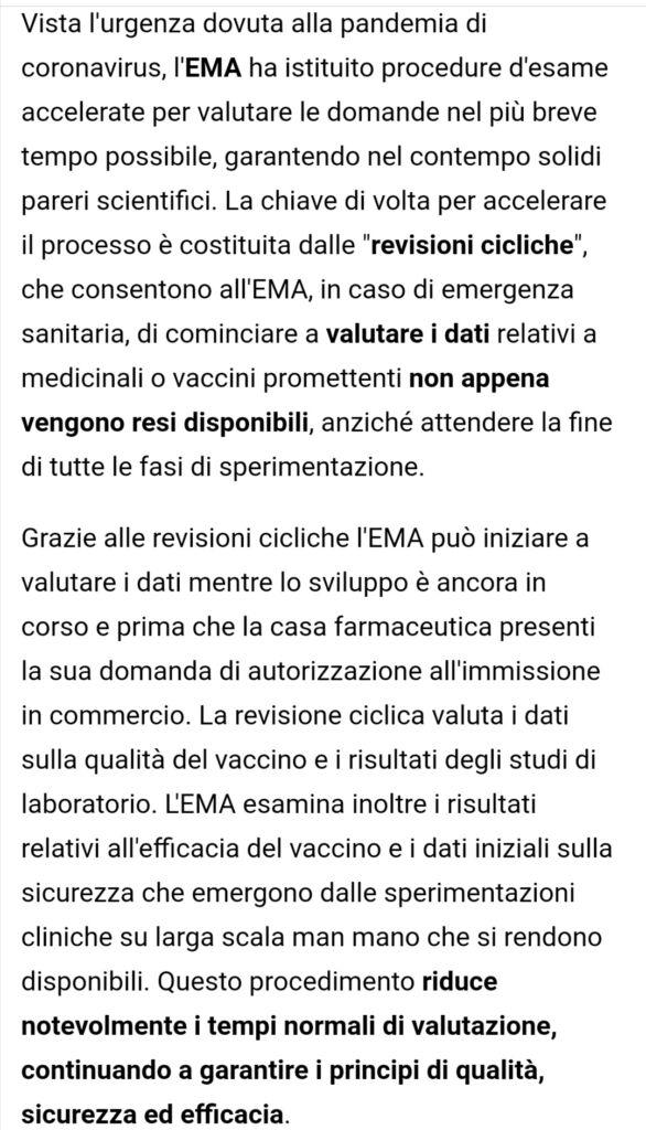 autorizzazione condizionata dei vaccini covid