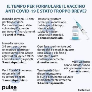 5 ragioni per cui il vaccino non è sperimentale